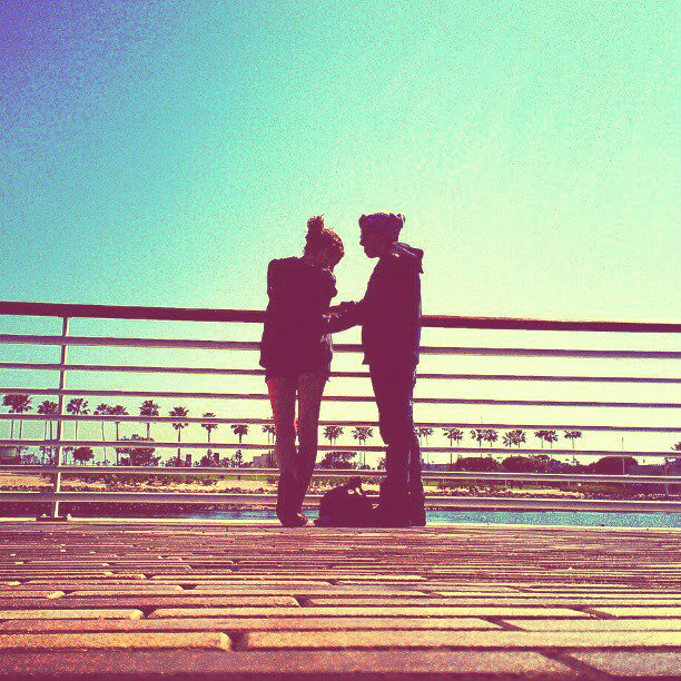 My boyfriend, Adam, and I in Long beach on the pier <3