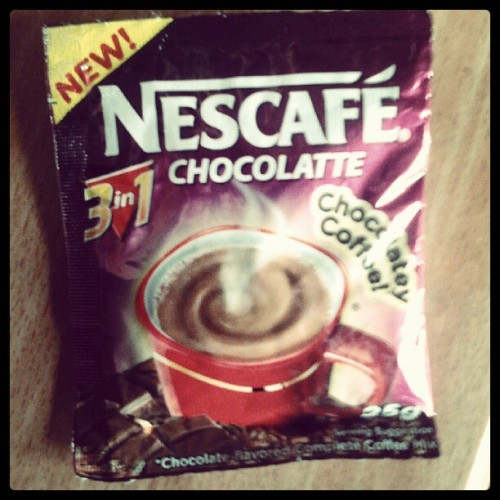eiijeiloveeight:  suddenly its magic :)) #nescafe #3in1 #trying #somethingnew (Taken with instagram)   Super Saturdays  Hmm.. we're guessing this week's featured fan caught the Last Song Syndrome from NESCAFE 3in1 Chocolatte's commercial! :) To download the full song and lyrics of the NESCAFE 3in1 Chocolatte and Creamylatte jingle, click here: http://bit.ly/NESCAFE3in1jingle
