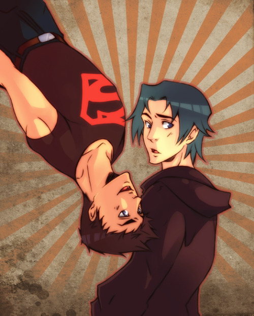 Tim and Kon by ~XMenouX