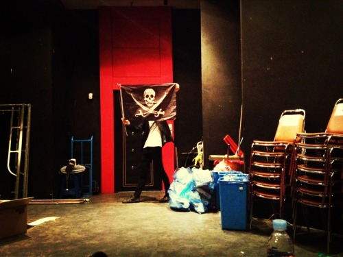 [Occupied]  V-hall Backstage by   Cap'n Ahopsi. #pirate picture by @iidaida   *during Bonastage show  Make your own Flag, visit  http://thepirateflag.tumblr.com