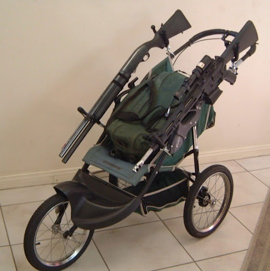 Zombie Stroller For taking baby out in a post-apocalyptic world. (Via: Krystyn Chong)