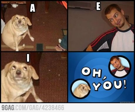 9gag:  Don't forget to bring a vowel.