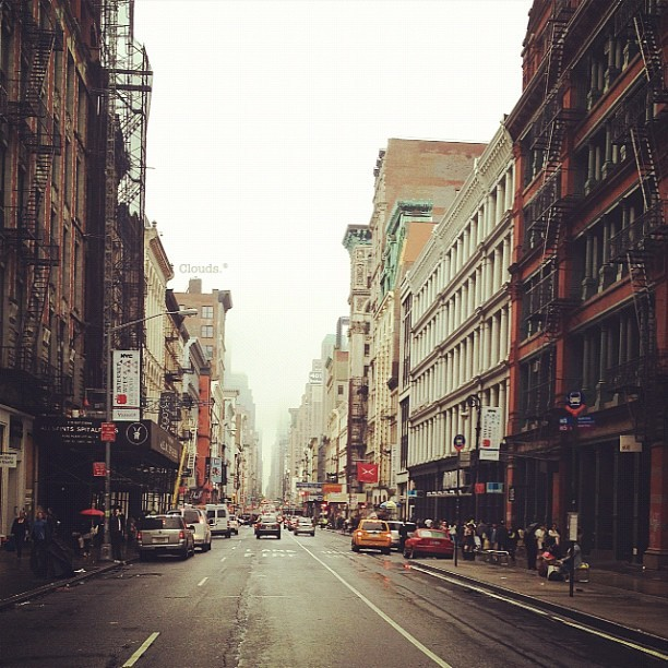 My cloudy city. #Soho #NYC #latergram #iphoneography  (Taken with instagram)