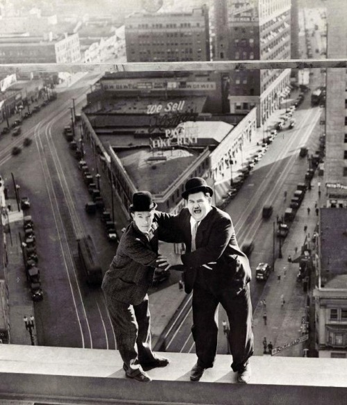 Stan Laurel & Oliver Hardy in Liberty (1929, dir. Leo McCarey) (via)