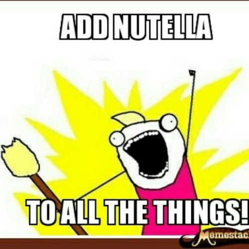 Nutella!!!!!! (Taken with instagram)