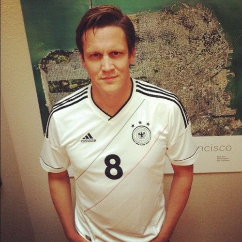 Well done @Holger rocking Ozil - Germany home kit #Euro2012 (Taken with instagram)