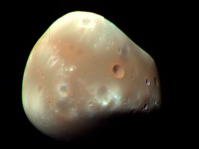 n-a-s-a:  Martian Moon Deimos from MRO  Credit: HiRISE, MRO, LPL (U. Arizona), NASA