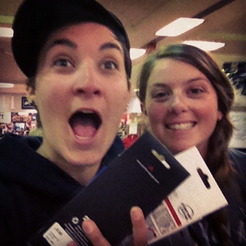 We're pretty excited, can't you tell!? We got new wrap for our handle bars! Bright orange and yellow, yeahhh buddy. I've only ever wrapped tennis rackets, but I think its fairly similar…although it will take some practice. I also purchased a 'bento box' for my bike so I can easily grab things up front like my cliff bars etc. And I nabbed some of those (probably nasty) goo shots that keep your blood sugar up, figured it couldn't hurt to try since I know the Shot Blocks are affective. We're yet again at Sports Basement (pretty sure I should just camp there).