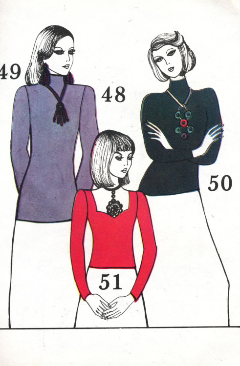 page from a Soviet Union vintage fashion magazine