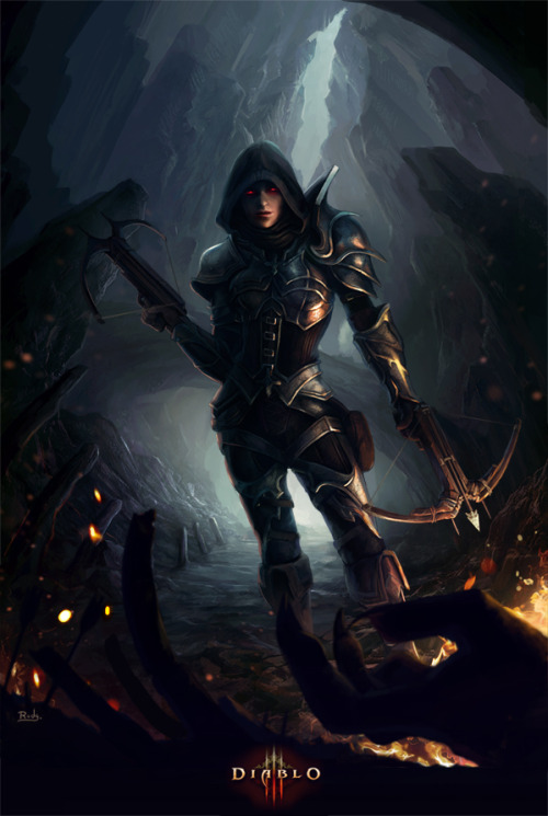game-portal:  Demon Hunter - Diablo 3by =RodrigoElven