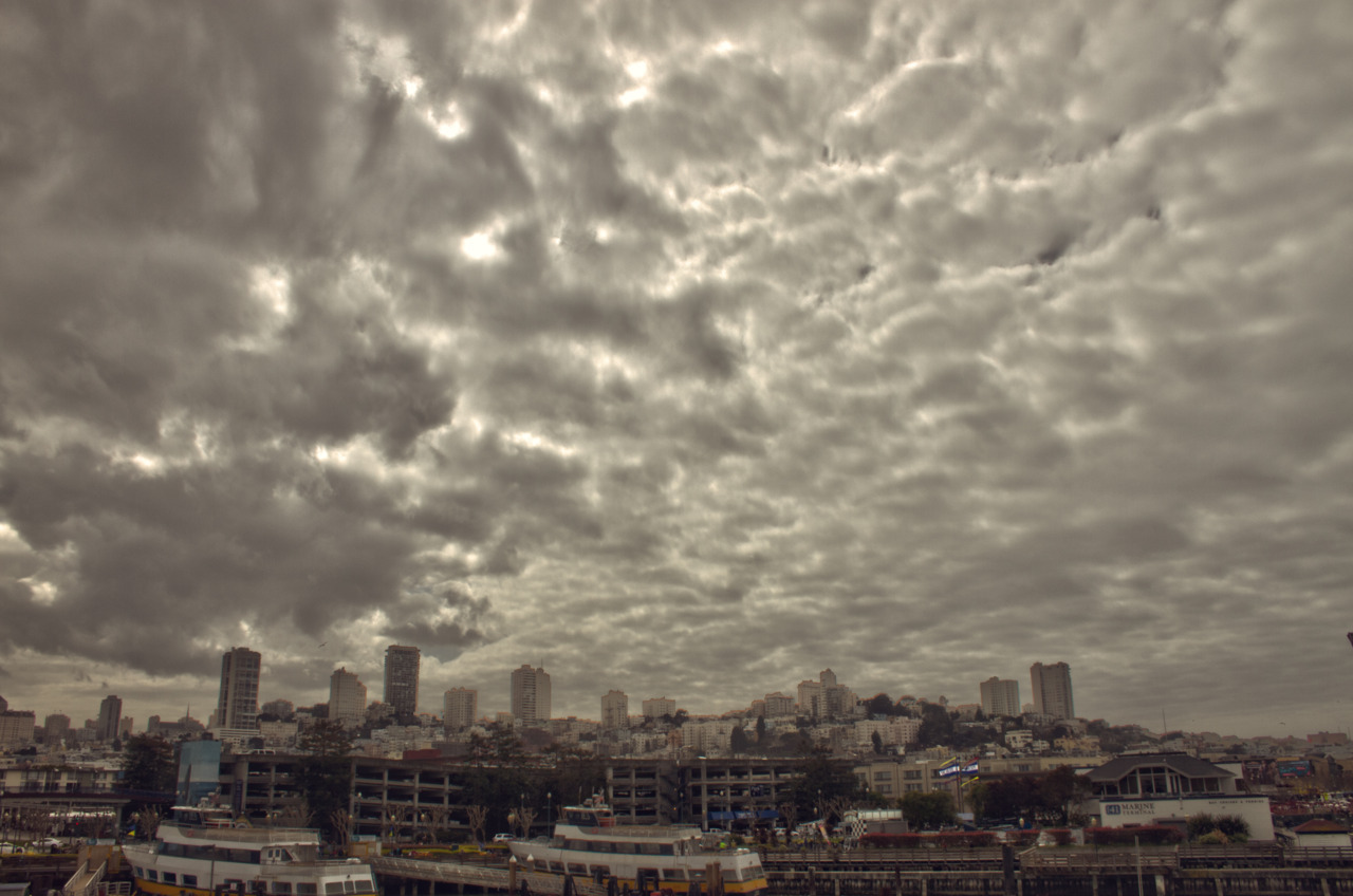 Cloudy day in the bay HDR, San Francisco