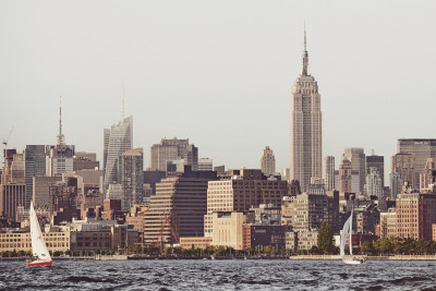 jameschororos:  No. 182 | Empire State | NYCTaken while sailing on the Hudson.