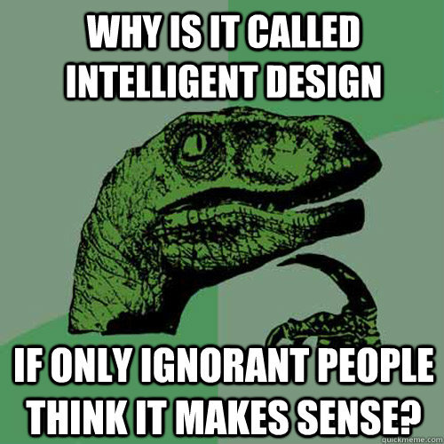 revreinard:  Why is it called Intelligent Design?
