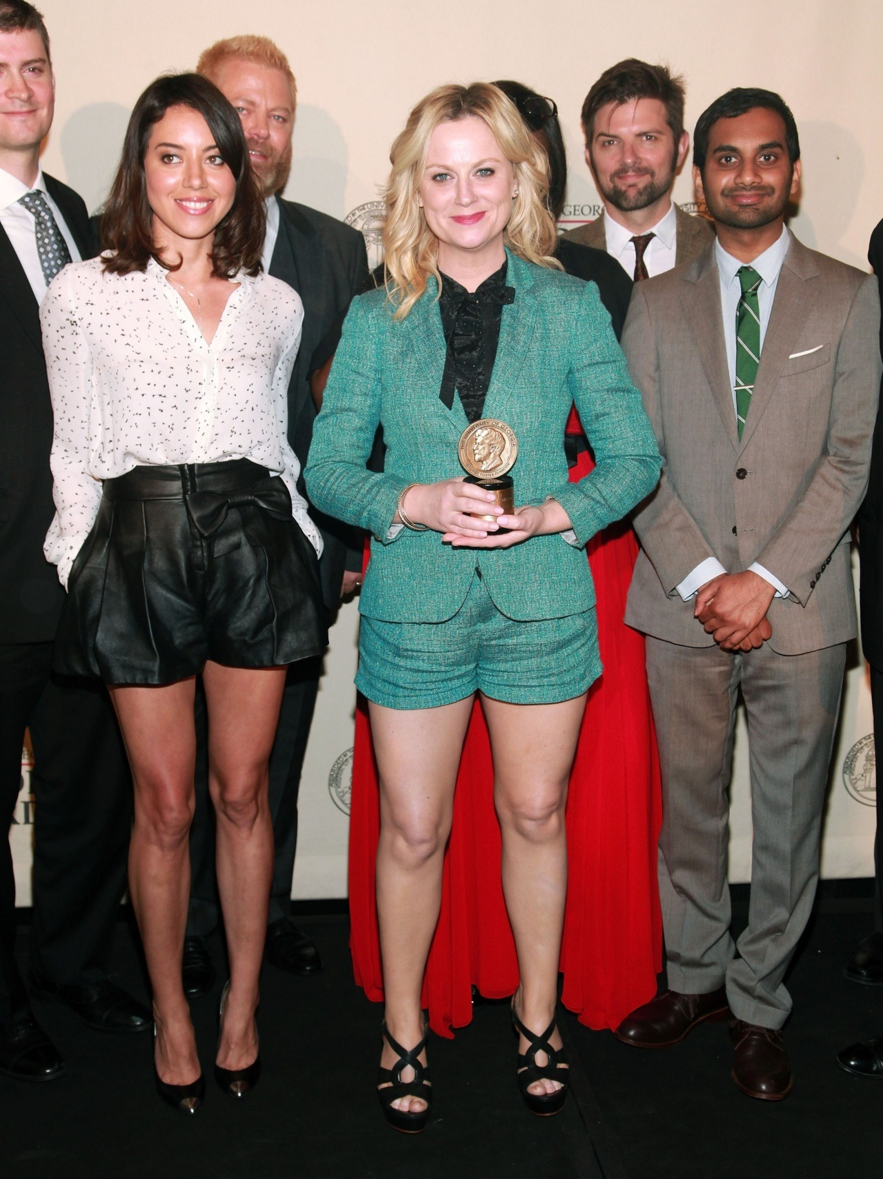Aubrey Plaza, Nick Offerman, Amy Poehler, Adam Scott and Aziz Ansari at the Peabody Awards in NYC, May 21st