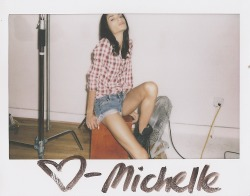 in studio polaroid with michellephoto marcus hyde