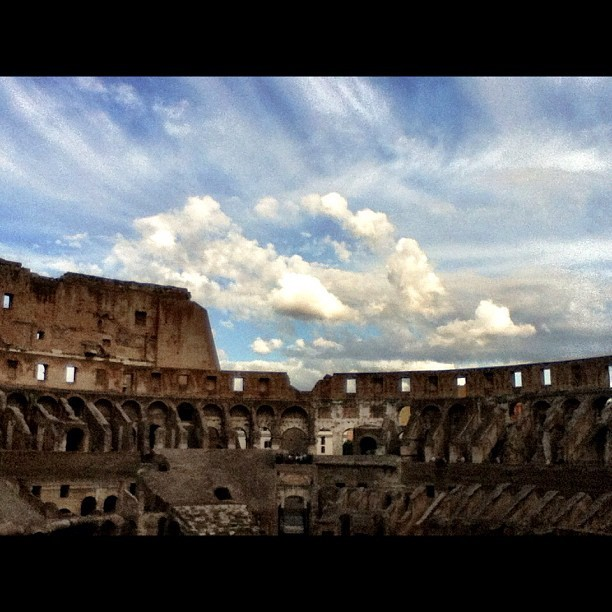 The Colosseum in Rome. #rome #italy #architecture  (Taken with Instagram at Colosseo)