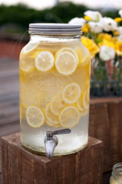 (via Urban Rooftop Picnic Lemonade Dispenser Picnic Ideas – Elizabeth Anne Designs: The Wedding Blog)
