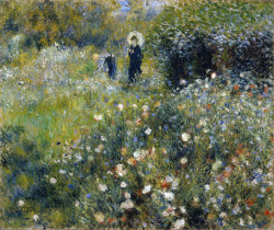 aleyma:  Pierre-Auguste Renoir, Woman with a Parasol in a Garden, 1875 (source).