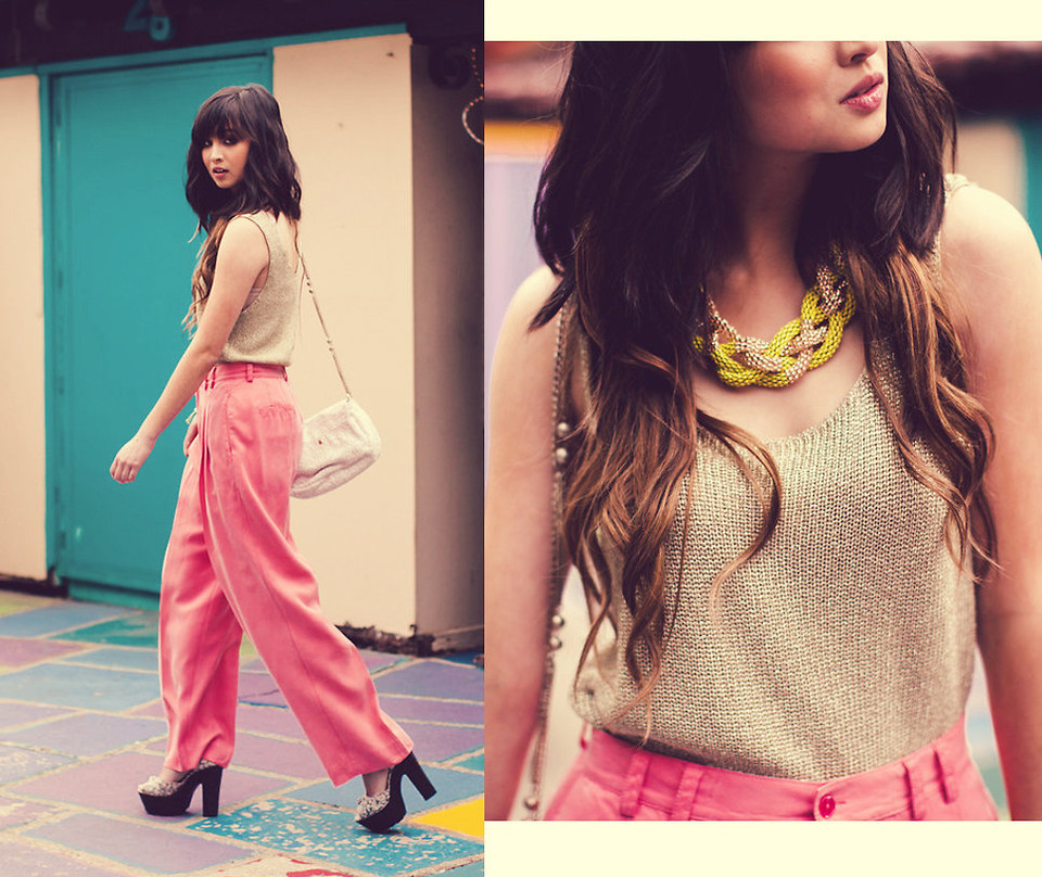 lookbookdotnu:  Pink & Gold (by Chesley Tolentino)