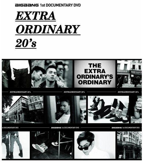 simplyygfied:  BIGBANG 1st DOCUMENTARY Extraordinary 20's DVD COVER Release Date: June 6, 2012 Can be bought here. credits: @negimax