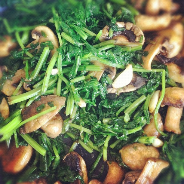 Spinach and Mushroom #food #yum #homemade #spinach #mushroom (Taken with instagram)