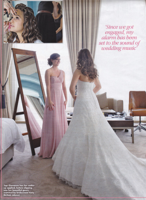 karenstevenson1:  tom mcfly and giovanna wedding ok mag scan part 3
