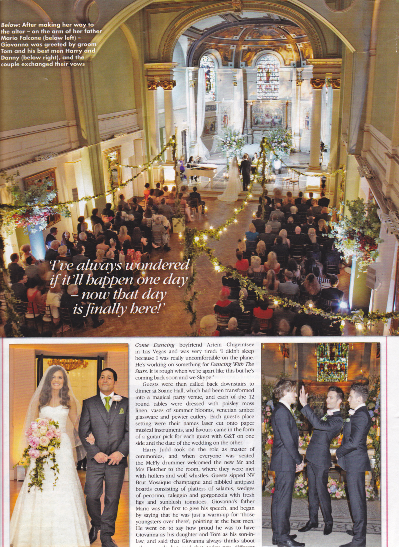 karenstevenson1:  tom mcfly and giovanna wedding ok mag scan part 5