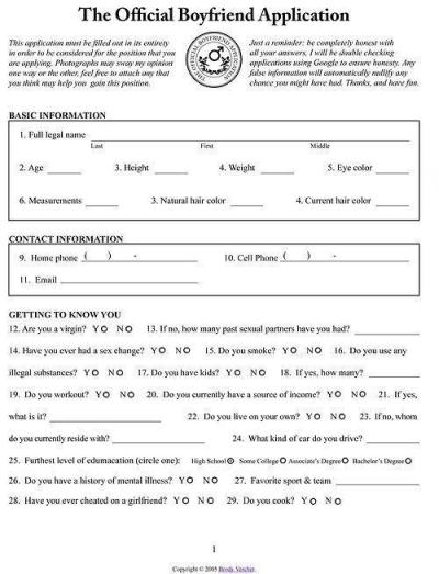 trentals:  Everyone fill out my boyfriend application!!I will be holding interviews next week haha