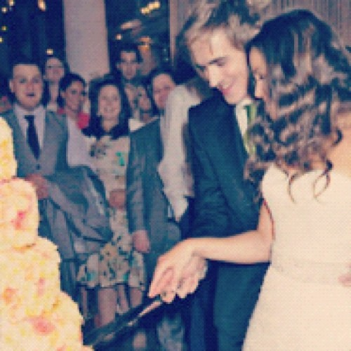 caughtinamindcontrol:  Cutting the cake :) (Taken with instagram)
