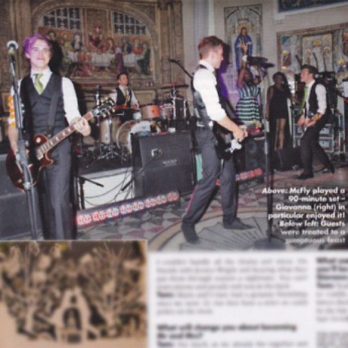 caughtinamindcontrol:  The boys playing a gig at the wedding :) (Taken with instagram)