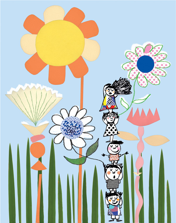 "Flower Kids"" Limited Edition print by Draw Me a Lion."
