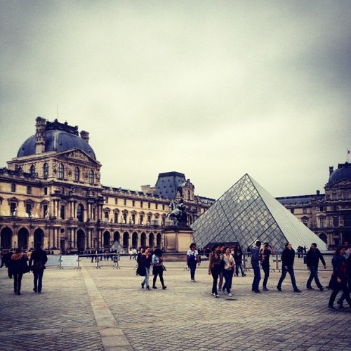 #Cloudy day at the #Louvre #Paris (Taken with instagram)