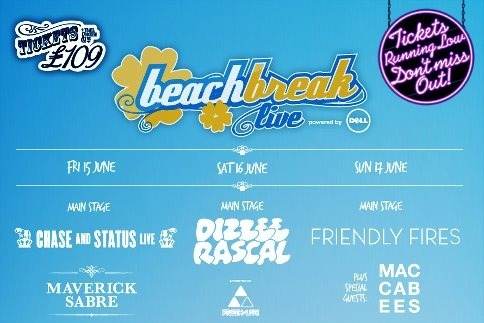 I'll be performing at Beach Break Live on Saturday 16th June. Get your tickets here!
