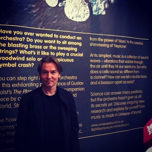 @esapekkasalonen at the #universeofsound press launch. Think you could conduct a 132 piece orchestra? Come to our new exhibition with @philharmonia and find out http://bit.ly/LxJJhc / on Instagram http://instagr.am/p/K7YHanrPLn/