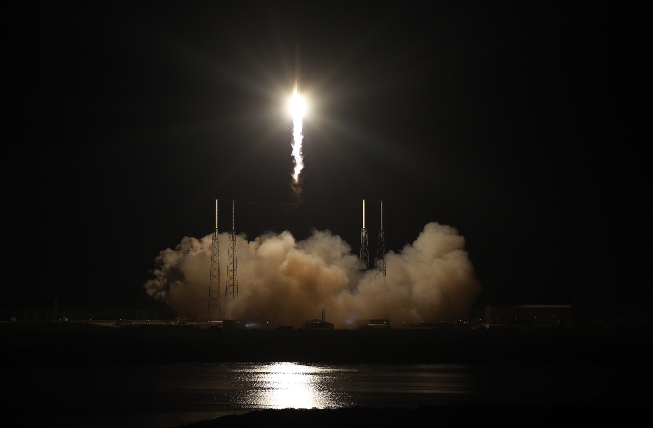 lookhigh:  A 'Picture Perfect' Launch Looking like a bright star streaking up into a black sky, a rocket took off before dawn today from Cape Canaveral Air Force Station in Florida carrying an unmanned capsule filled with food, clothes, and other supplies for astronauts on the international space station. But this robotic cargo ship doesn't belong to NASA. Instead, it's owned by a company called SpaceX, which made history by launching the first ever private spacecraft on a mission to the station. SpaceX has a $1.6 billion cargo-delivery contract with NASA, which is turning routine flights to the station over to industry so that the veteran space agency can start to focus on more ambitious exploration efforts. (NPR) Photo: Historic @SpaceX #DragonLaunch to ISS. @NASA on Twitpic   This is a landmark moment in space travel. With the entry of private firms into the public space game, NASA not only ensures continued support for ISS projects, but can turn their resources to missions above and beyond near-earth orbit.  This is the kind of progress that lets NASA worry less about meeting a bottom line or boldly going where we've gone many times before, and instead lets them start thinking about what's next.
