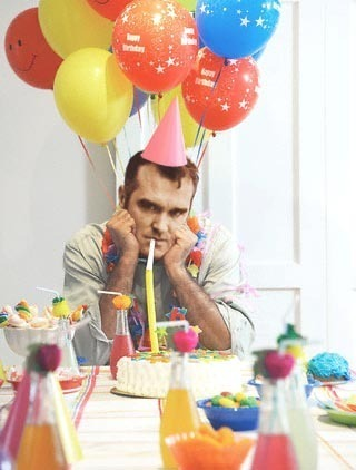 postpunkpostcardfair:  noirkitsch:  Happy Birthday Morrissey! Here's to many more years whisking songs of love, pain, desperation and laughing in the face of all that.   I know i am a bit early but i have to get an early night due to exams so happy birthday mozalini