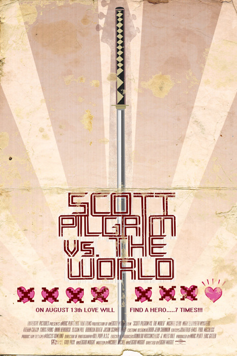 minimalmovieposters:  Scott Pilgrim Vs. The World by Duke Dastardly
