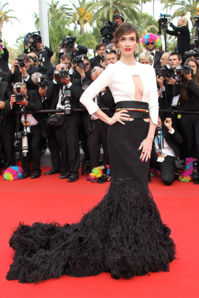 elle:  Paz Vega in Stephane Rolland couture at the Madagascar 3 premiere. More from Cannes!