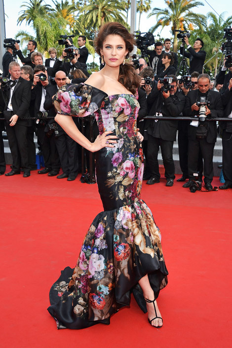 elle:  Bianca Balti in Dolce & Gabbana at the Lawless premiere. More from Cannes!  love.