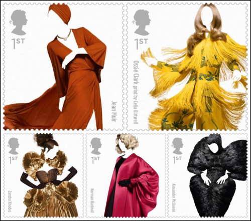 darklamb:  Fashion stamps! Photographed by Sølve Sundsbø for the Royal Mail. (via stylesight)
