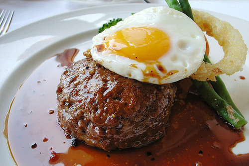 in-my-mouth:  Fried Egg and Meatloaf
