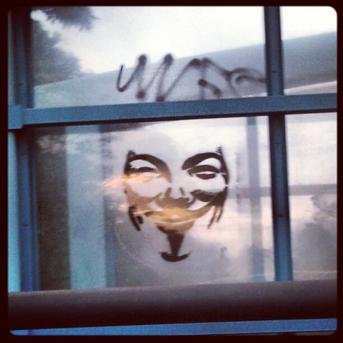 http://twitpic.com/9o0bu8/full More and more #Anonymous #Graffiti internationally! #Revolution is coming #ExpectUs!