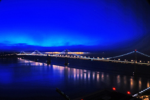lovebulldozer:  Early Morning SF Bay Bridge on Flickr.