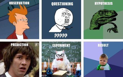 theinternetsuckstoday:  The Scientific Method, as brought to you by memes