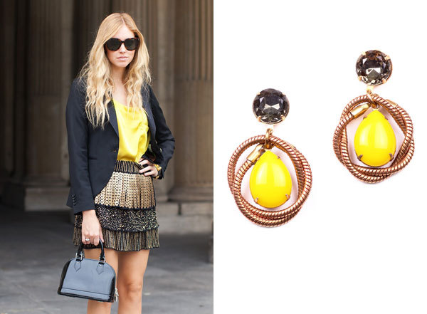 THIS OUTFIT REMINDS US OF Knot teardrop earrings in lemon