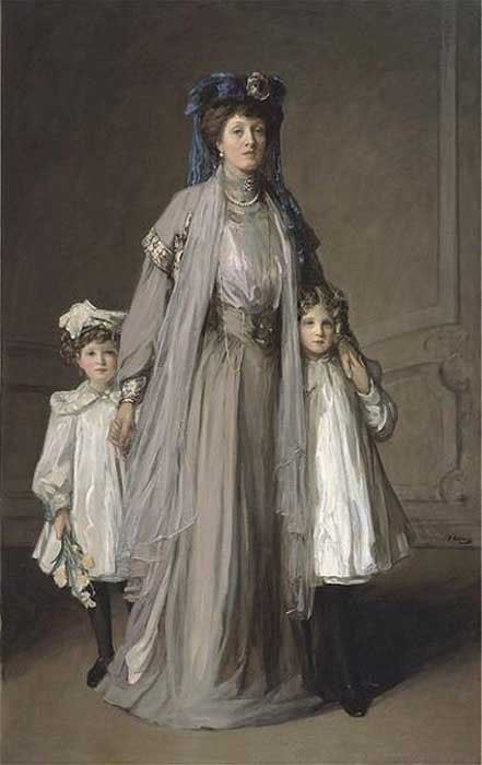 soyouthinkyoucansee:  Mrs_McEwen and children Sir John Lavery, was one of the most prominent painters of Edwardian British aristocracy  j
