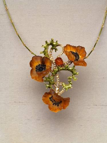 Poppy Necklace by René Lalique