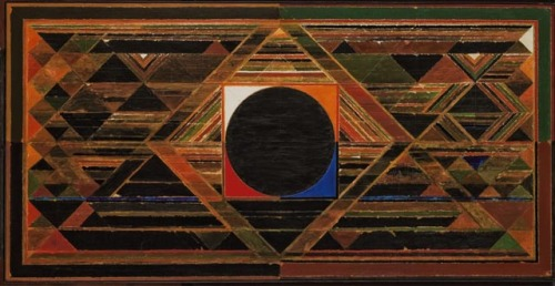 Syed Haider Raza, Gestation, acrylic on canvas, painted in 1989 Credits