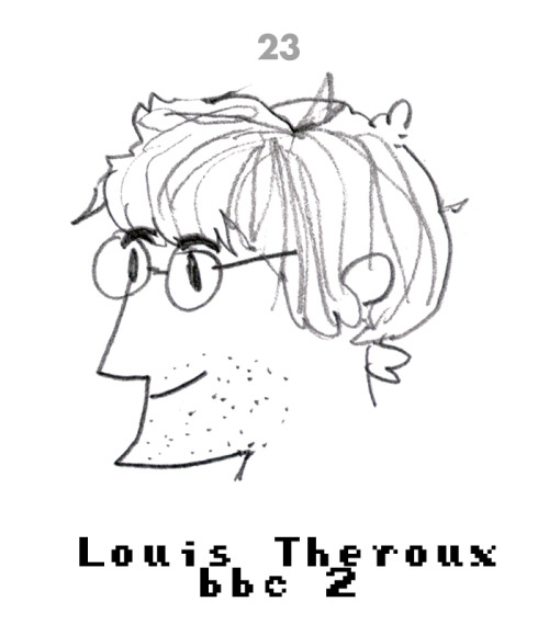 #23 Louis Theroux (LATE) Drawing a day.