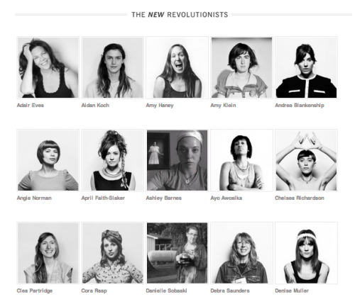 "The New Revolutionists' Meet & Eat, with founder Laura Burhenn of the Mynabirds Small Girls will be lunching with some kickass women today.  The New Revolutionists project highlights empowering women through this portrait project ""pay[ing] tribute to the fact that women who stand up to injustice are rarely pristine; they get their hands dirty"".   We're honored to get a firsthand look into the project with Laura today and be surrounded by some pretty amazing women in the process. While we actively support women in tech and media in our day to day business, the invite to today's lunch forced us to step back and think about what we're doing to empower smart women as a whole, from artists to doctors to mothers and beyond. We wouldn't be where we are without the strong mothers that raised us, the female advisors that pushed us early on and the women-led companies that hire us for client work.  Excited to make our Small Girls circle a little bigger today."